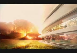 apple wants to build giant spaceship campus in cupertino space sunset