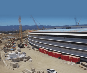 Aerial video shows Apple's 'spaceship' HQ nearly complete