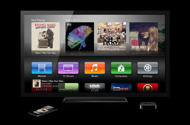 apple tv debuts fashion channel apps from cbs nbc airplay streaming music