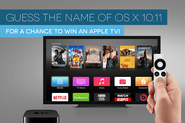 name os x  apple tv giveaway osx