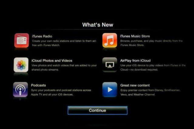 apple tv  update is live allows airplay streaming from icloud splash screen