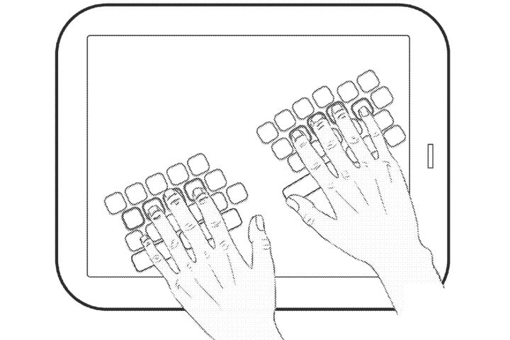 Apple virtual keyboard patent