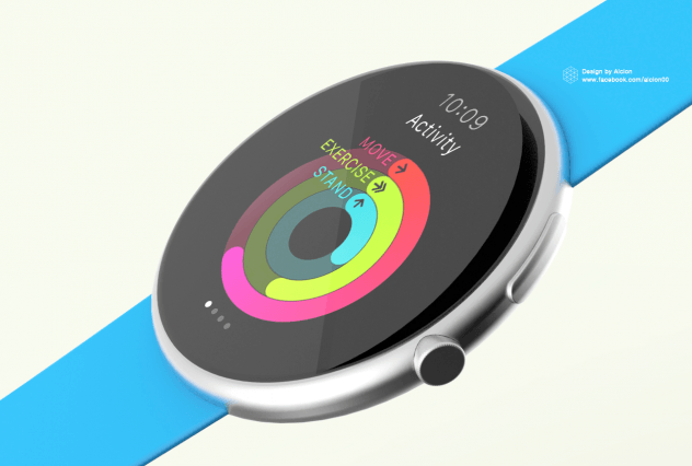 apple watch roudn concept