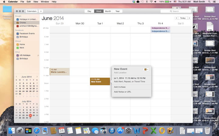 blurred lines continued iosification os x apple yosemite screenshot calendar