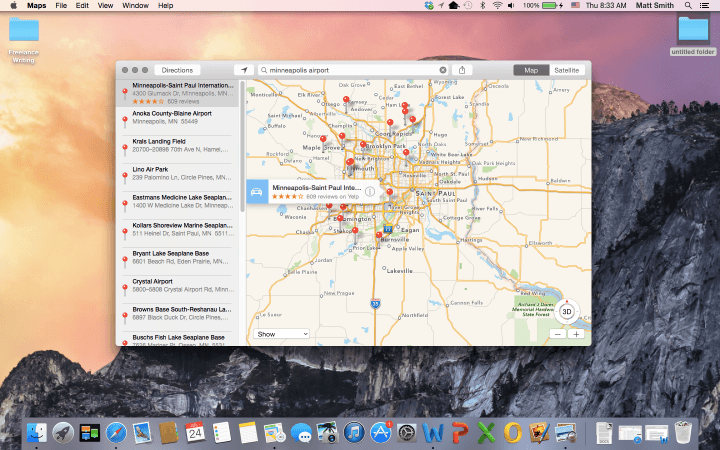 blurred lines continued iosification os x apple yosemite screenshot maps