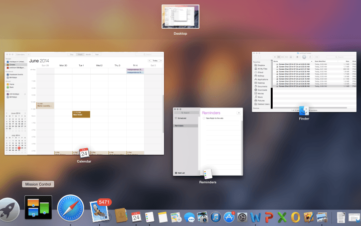 blurred lines continued iosification os x apple yosemite screenshot mission control