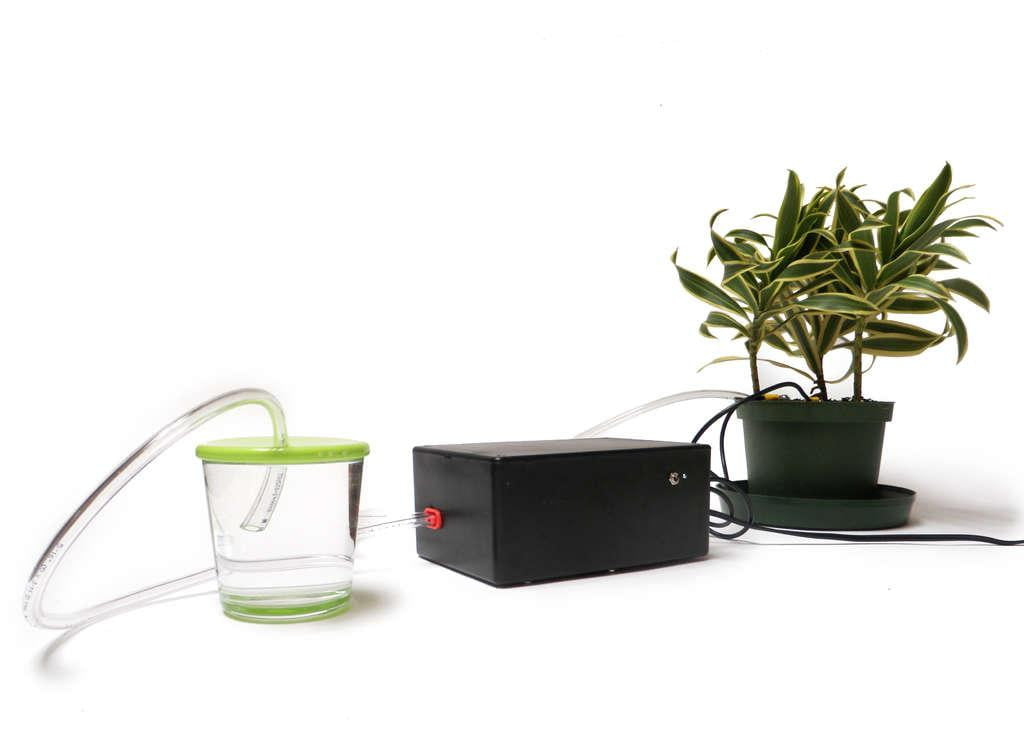 Arduino powered plant can water itself thank you very