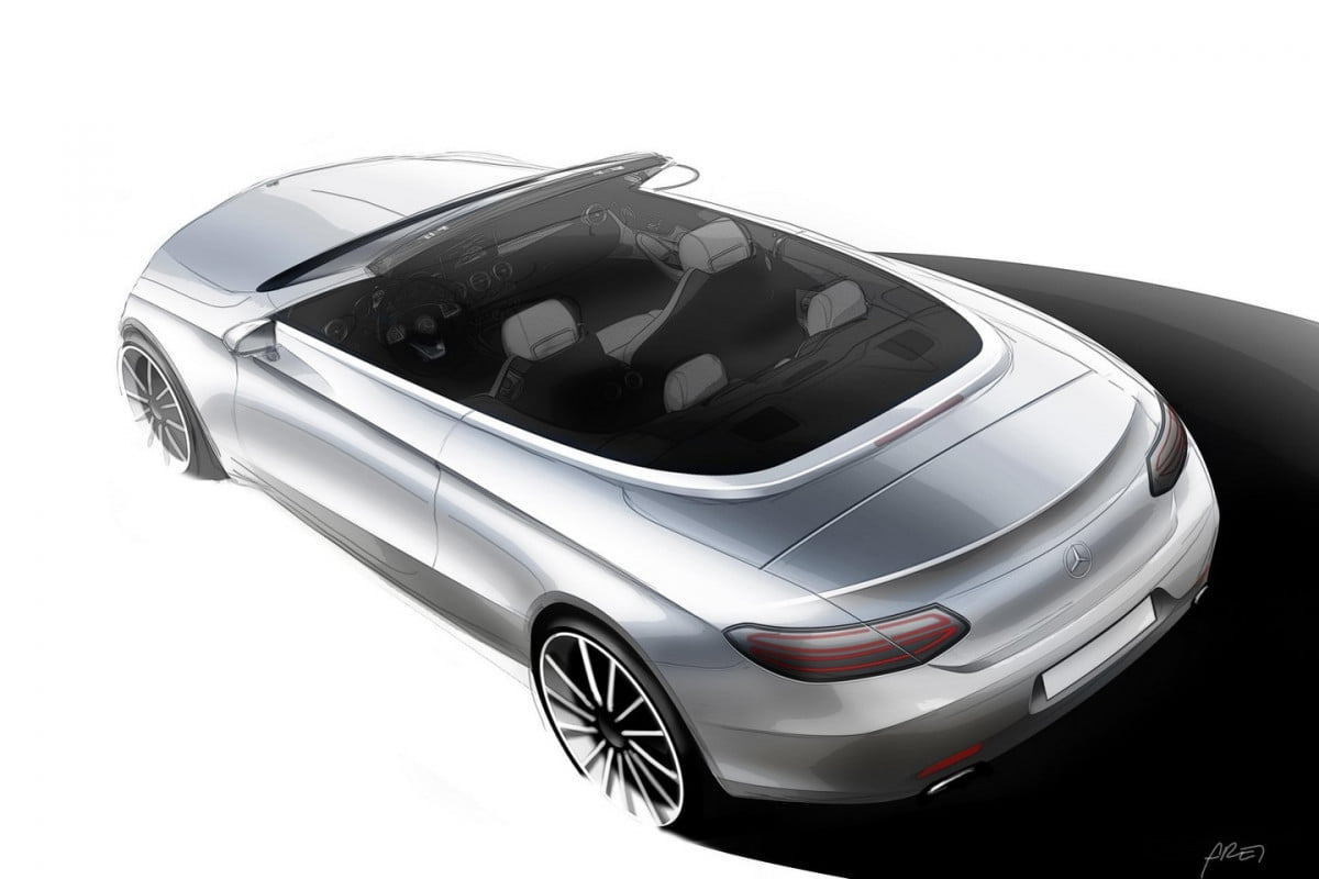 mercedes benz c class cabriolet design sketch pictures