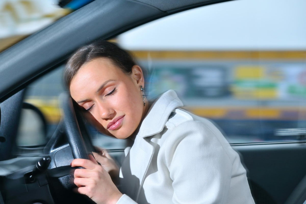 woman from new zealand managed to text and drive while sleeping for  miles asleep at the wheel