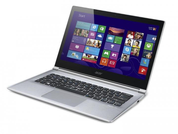 acer updates aspire s  ultrabooks with next gen processors touchscreens left facing