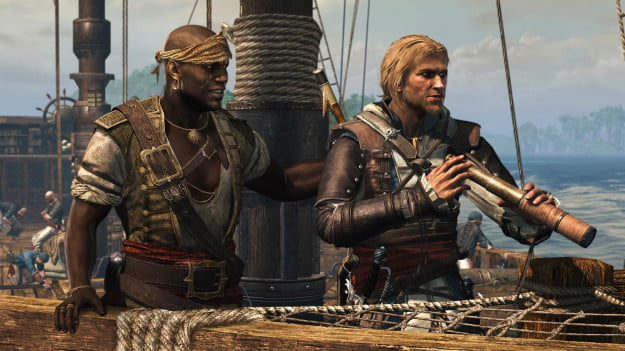 Assassins Creed 4 Black Flag Caribbean Sea Adewale And Spyglass
