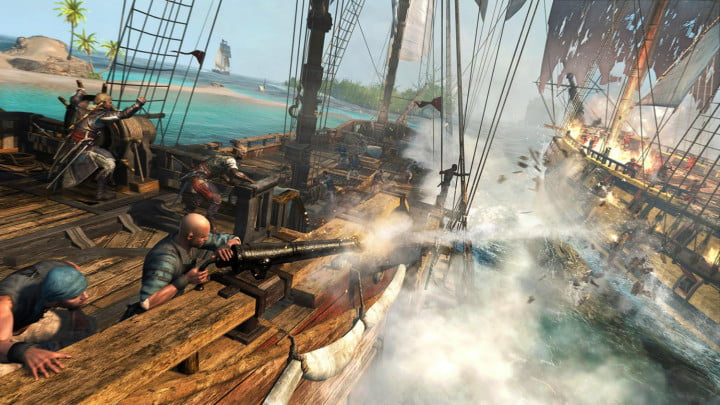 assassins creed iv black flag  caribbean sea naval battle