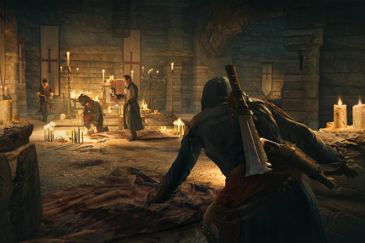 free game assassins creed unity comes catch catacombritual
