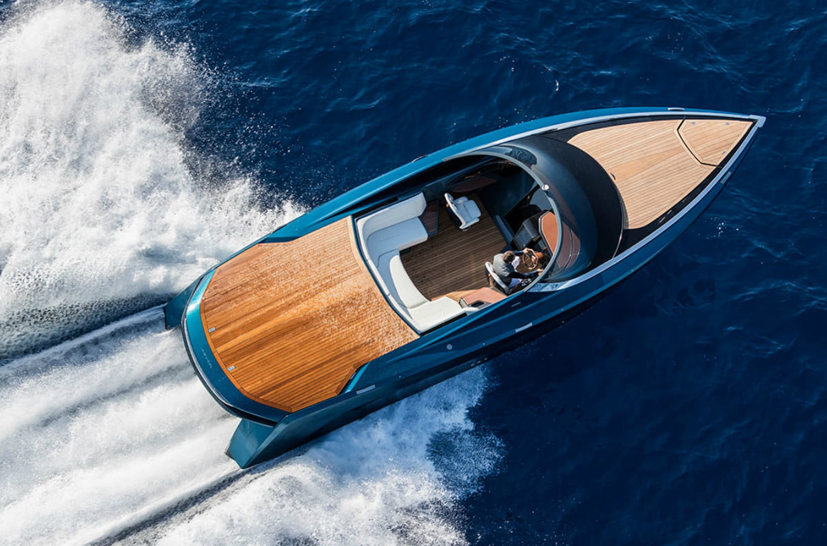 aston martin quintessence yacht am  foot powerboat news