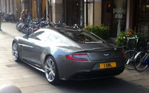 2013 Aston Martin Vanquish spy shot rear three-quarter