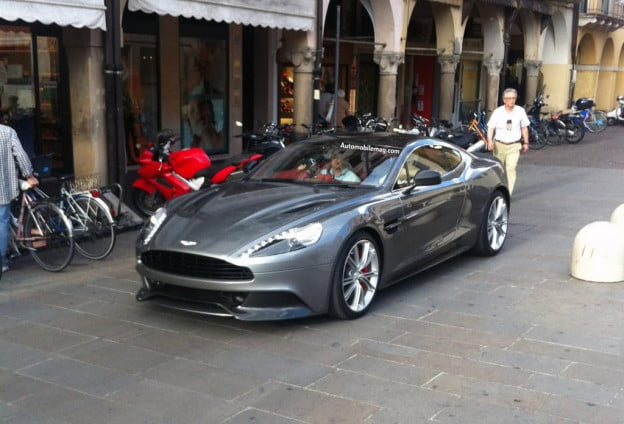 2013 Aston Martin Vanquish spy shot front three-quarter
