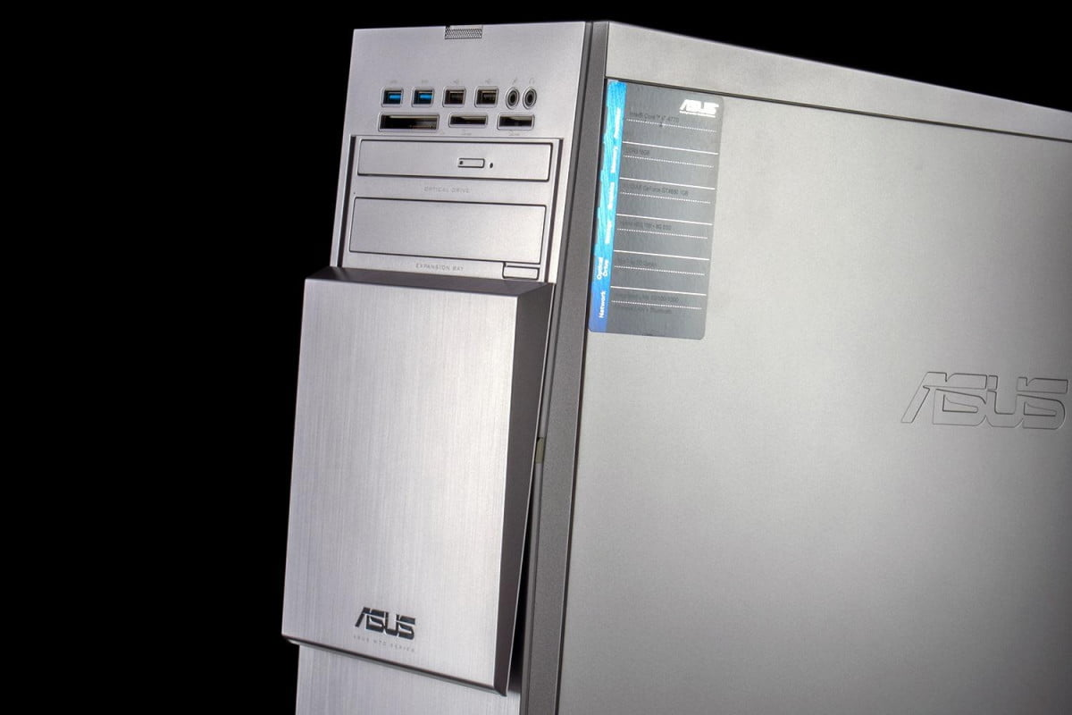 much pc dead research firm says sales will jump five percent  asus m ad us s review desktop front angle macro x