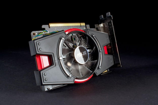 Asus Radeon R7 250X front angle 3