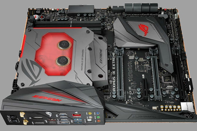 Asus ROG Maximus IX Extreme Z270 motherboard has built-in water cooling
