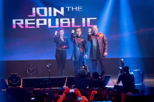 asus prototype computex rog presents  join the republic press event at from left to rig