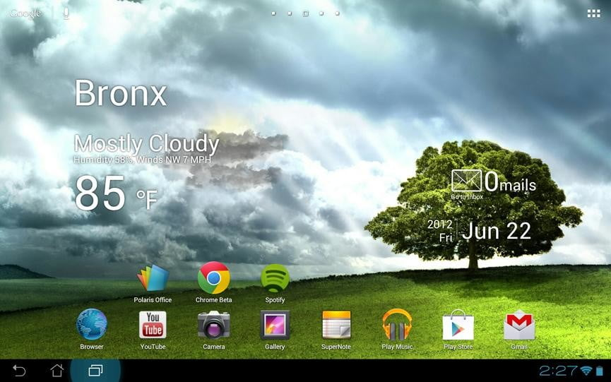 Asus transformer pad infinity review screenshot homescreen google android tablet