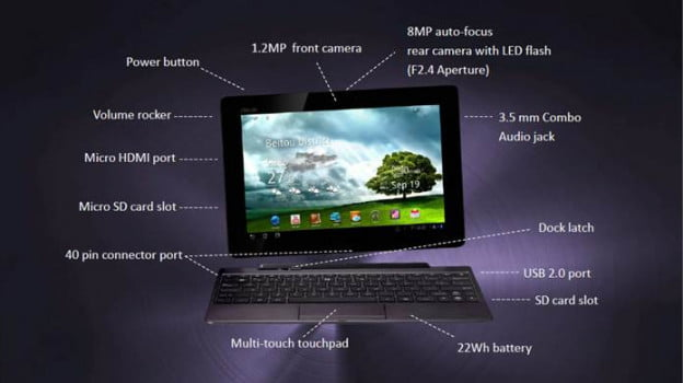 asus transformer price spec sheet 2