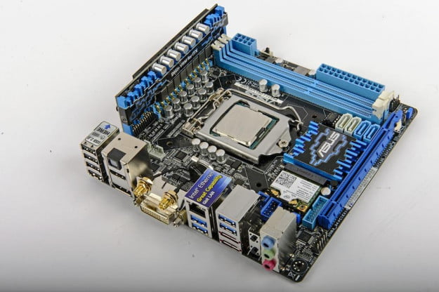 The Asus P8Z77-I Deluxe offers a rich array of features usually found only in larger boards.