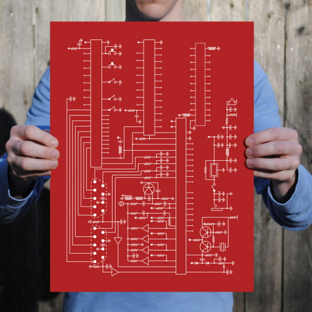 Atari_Schematic Prints from City Prints