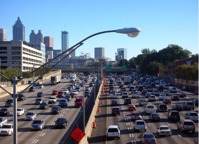 stay safe while traveling this weekend with these memorial day driving safety tips atlanta traffic jam