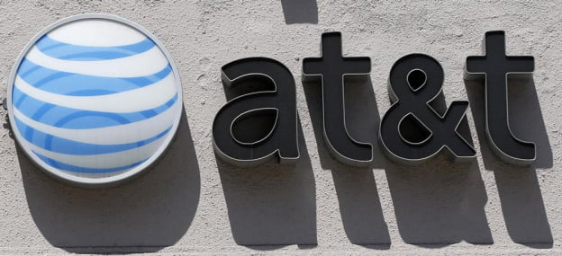 AT&T building logo