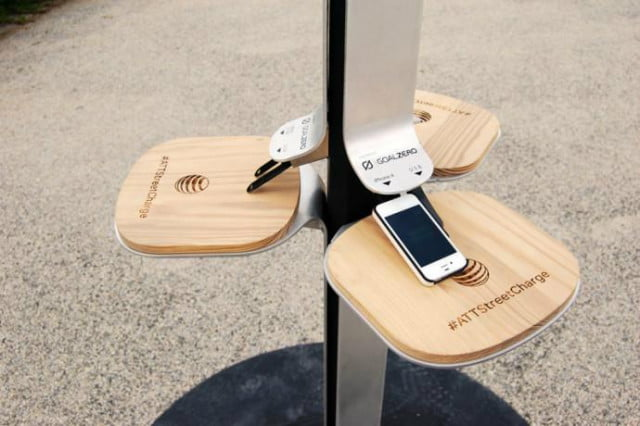 att plans add solar phone charging stations throughout nyc attstreetcharge