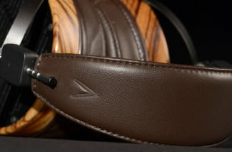 audeze lcd3 professional reference headphone leather covered headband macro2