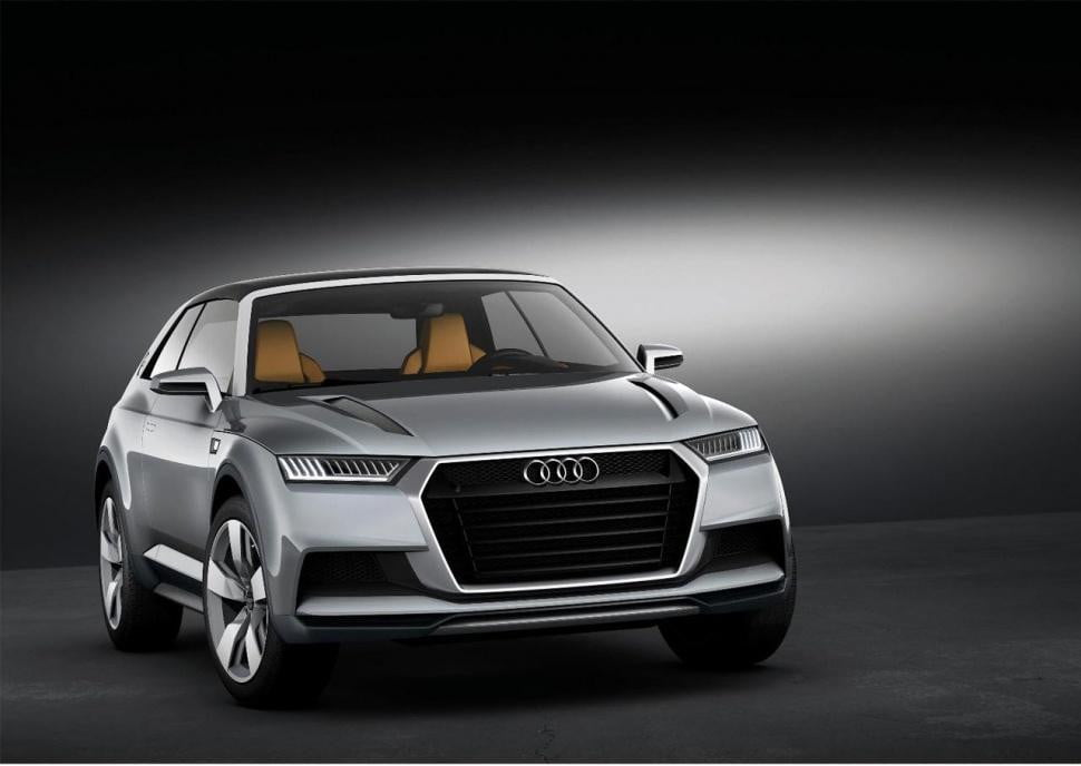audis baby q  crossover get horsepower rs treatment audi