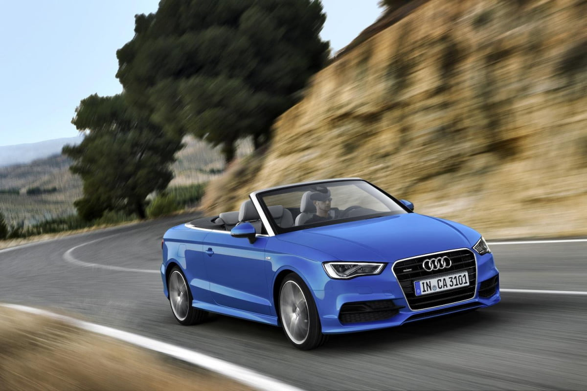 audi drops curtains and the cloth top on new tech savvy a  cabriolet