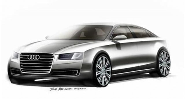 audi sketches reveal sleeker a  update refreshed