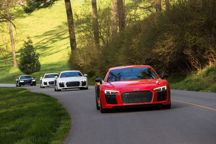 audi r v plus road trip and track drive