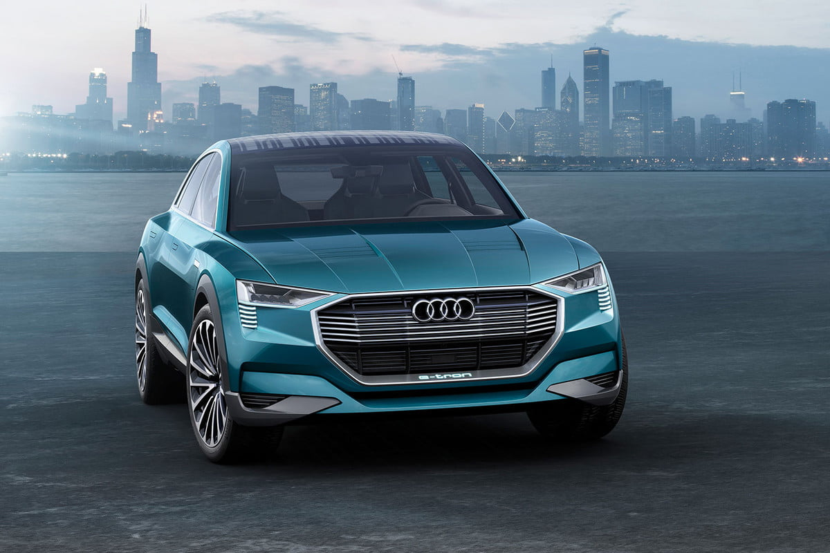 audi chooses e tron name for electric suv quattro concept technology study a  large