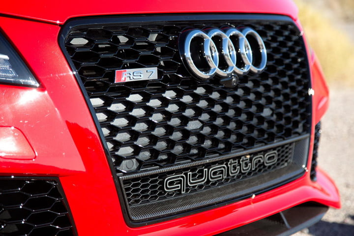 audi rs review front grill