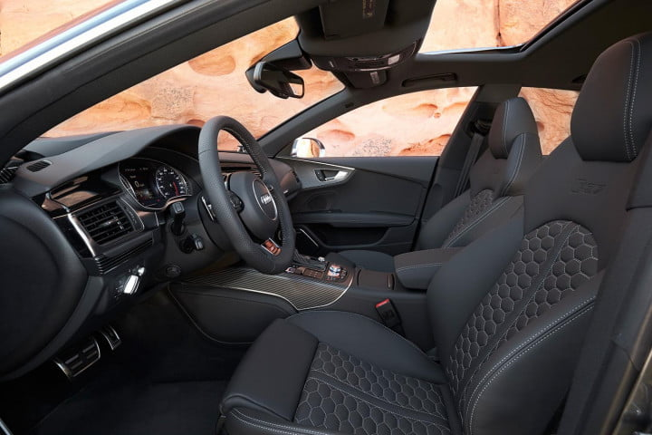 audi rs review interior front
