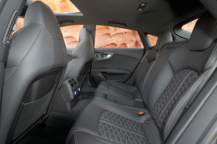 audi rs review interior rear