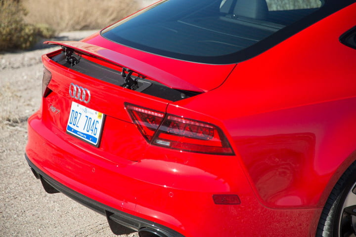 audi rs review rear angle