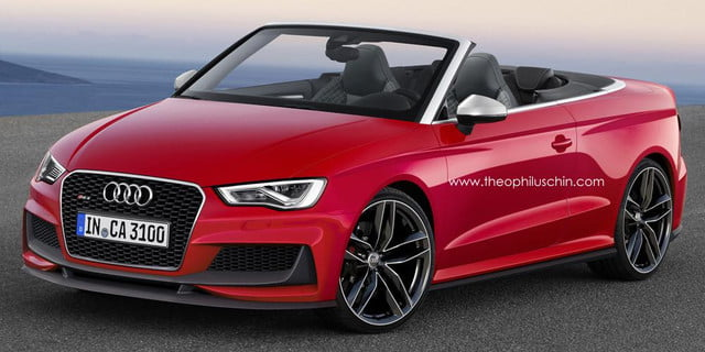 audi rs  cabriolet rendered cabrio rendering