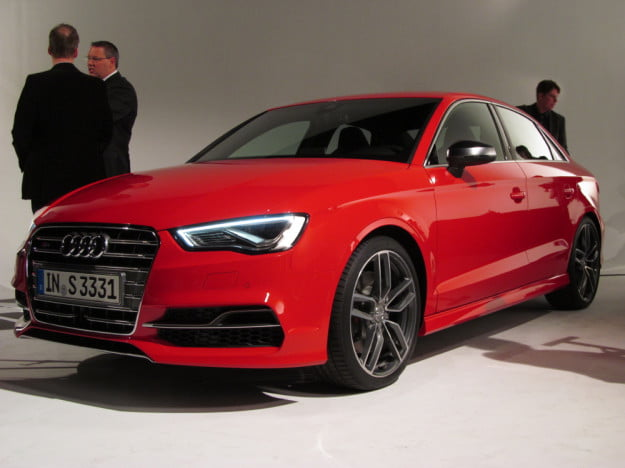 2015 Audi S3 reveal front three quarter