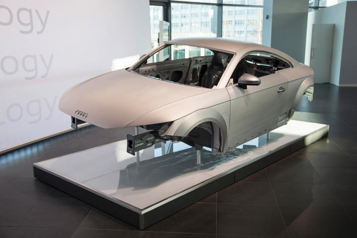 how audi redesigned the  tt body with aluminum add on parts