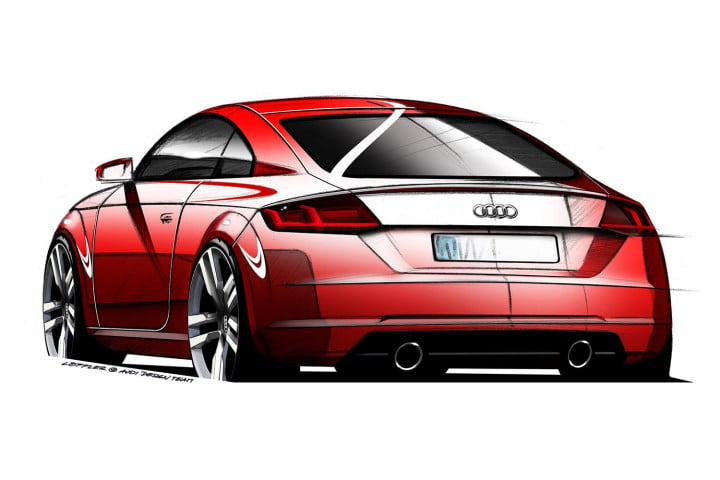 how audi redesigned the  tt design sketch