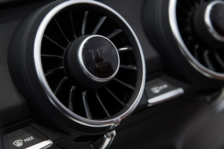 how audi redesigned the  tt integrated controls ac vents at ces