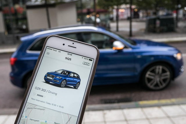 audi readying first u s car sharing app unite  x
