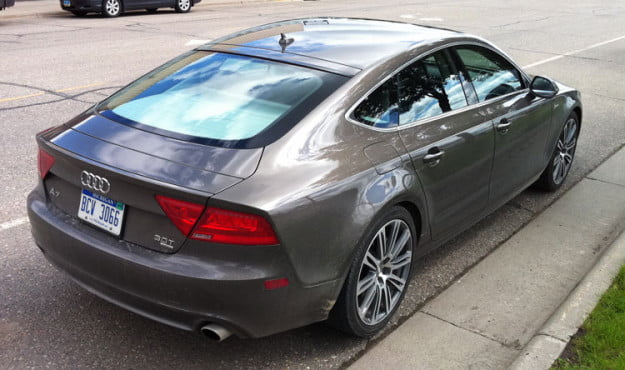 Audi 7 rear angle right