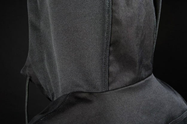 "The stylishly studio and stage-ready Audio Engineer Hoodie features acoustically transparent hood panels (made of  for ""when you need a barrier between you and the world but you still need to mix."""