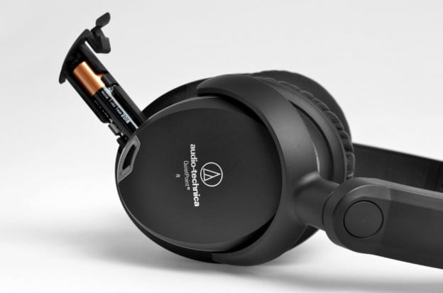 Audio Technica ATH ANC9 Review battery slot over the ear noise canceling headphones